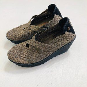 Bernie Mev Cleopatra Wedge Woven Shoes